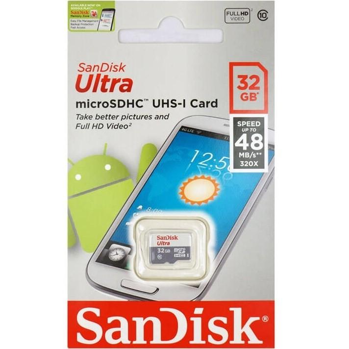 כרטיס זיכרון microSD של חברת SanDisk בנפח 32Gb