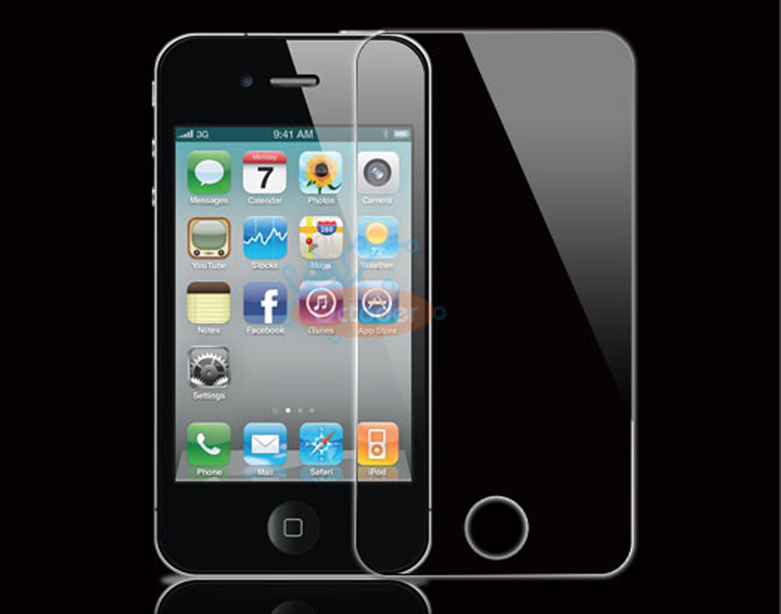 מגן מסך זכוכית מחוסמת לאייפון 4/4s להגנה מירבית iPhone 4/4s