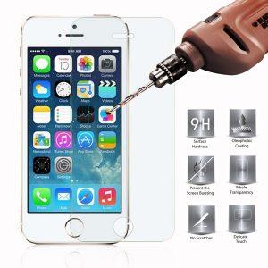מגן מסך זכוכית מחוסמת לאייפון iPhone se/5s/5 להגנה מירבית
