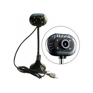 מצלמת רשת USB למחשב WEBCAM HD כולל מיקרופון מובנה ותאורת לד
