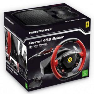 הגה מירוצים עם דוושות Thrustmaster Ferrari 458 Spider ל XBOX ONE