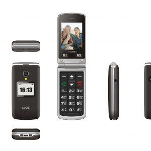 טלפון סלולרי למבוגרים סליידר עם תכונות חדשות דגם משופר W50c